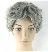 Old Grandmother Wig curls short wavy hair for Lady