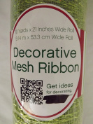 SCM Decorative Mesh Ribbon Green Glimmer