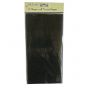 Coloured Large Tissue Paper - Black - 15 Sheets, 8.1m x 6m