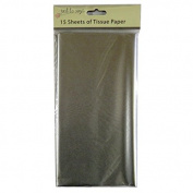 Coloured Large Tissue Paper - Silver - 15 Sheets, 8.1m x 6m