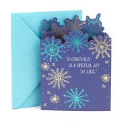 Hallmark Christmas Greeting Card to Godchild, Foil Snowflakes