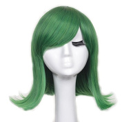 Yuehong New Fashion Short Green Ainme Party Cosplay Costume Hair Wigs