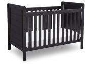 Delta Children Serta Cali 4-in-1 Convertible Crib, Rustic Ebony
