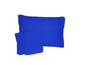 Baby Doll Bedding Solid Crib/ Toddler Bed Sheet Set, Royal Blue