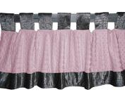 Baby Doll Bedding Croco Minky Window Valance, Grey/Pink