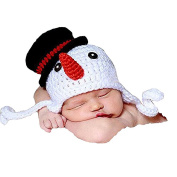 Tinksky Newborn Baby Photography Photo Prop Crochet Knitted Crochet Costume Snowman Hat Caps By Xselector Christmas Decoration