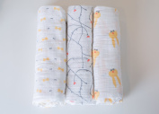 Kadut Kids 100% Muslin Cotton Baby Swaddling Blanket Signature Collection, 3 Pack