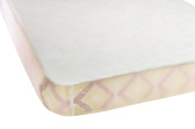 Premium Natural Bamboo Soft and Breathable Waterproof Fitted Crib Sheet Protective Mattress Pad Cover - Dryer Friendly
