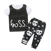 Baby Outfits,Leegor Boys Lovely Panda Printed T-shirt Tops+Pants Clothes Set