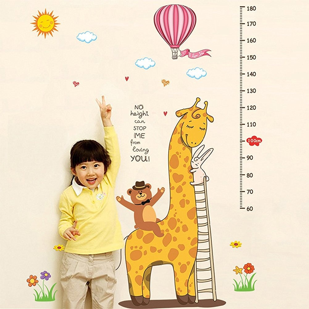 EasyGO Growth Height Chart Wall Sticker Measuring Children Baby ...