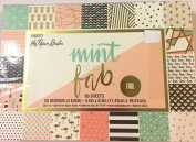 Mint To Be Fab, 4.5x6.5 Scrapbooking Paper, Foil,Pineapples,Flamingos,Feathers 80 sheets