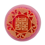 Mr.S Shop 3D Double Happiness Models Soap Silicone Mould Mooncake Mould Bakeware Cooking Tools DIY Cake Decoration Mould,Small Size