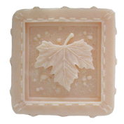 Grainrain Square Maple Leaf White Silicone Soap Mould Soap Making Moulds Diy Craft Art Handmade Flexible Soap Mould