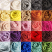 KING DO WAY 36 Colours Spinning Sewing Trimming Merino Wool Fibre Roving For Needle Felting