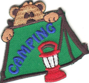 """""""CAMPING"""" - TRIP - VACATION - OUTDOORS CAMP - IRON ON EMBROIDERED PATCH"""
