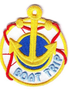 """BOAT TRIP"" -- VACATION, TRIP, RIDE, ADVENTURE - IRON ON EMBROIDERED PATCH"
