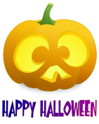 Halloween Heat Transfar Pumpkin Iron-On Heat Transfer for White Material, 100cm x 28cm