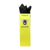 """Buzzed"" Bee Wine Bottle Gift Bag + Tissue Paper"