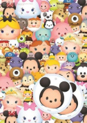 Gemma International Disney Tsum Tsum Wrapping Paper & Tags - 2 Gift Wrap Sheets & 2 Tags
