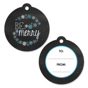 Be Merry - Christmas Party Favour Gift Tags - Set of 20