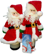 Santa Bottle-Covers Pair (2) and One (1) FREE Santa Key