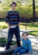 Anthony - Black Purl Knitting Pattern #K9 Crew or V Neck Pullover for Children 2 - 10 yrs