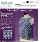 Slip Stitch Squares Shell - Vermont Fibre Designs Knitting Pattern 111 XS-5X