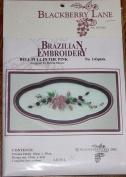 Bell Pull - Blackberry Lane Brazilian Embroidery pattern #143 Pink