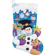 Janlynn Frosty Christmas Stocking Felt Applique Kit, 46cm
