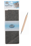 Set of 2-Royal Langnickel Graphite Paper 18 x 36 (Grey) & Double-Ended Stylus