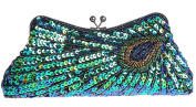 Bywen Womens Peacock Purse Party Clutch Shoulder Bags