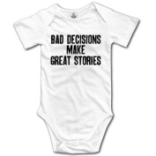 Bad Decisions Make Great Stories Funny Baby Onesie Infant Clothes