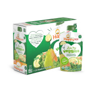 Happy Baby Tot Love My Veggies Organic Baby Food Stage 4, Zucchini/Pear/Chickpeas & Kale, 120ml