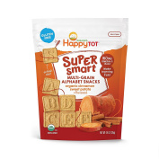 Happy Family Tot Super Smart Multi-Grain Alphabet Snacks Cinnamon Sweet Potato, 130ml