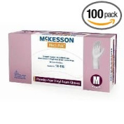 McKesson Vinyl Exam Gloves - X-Large - Box of 100