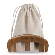 Hair Comb - Hairdressing Fragrant Natural Wood Hairbrush with Anti-Static & No Snag with Fine and Medium Tooth Wooden Hair Care Comb for Head Hair, Beard, Moustache with Premium Carrying Pouch