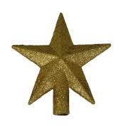 superli 10cm Petite Treasures Gold Glittered Mini Star Christmas Tree Topper - Unlit