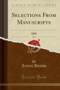 Selections from Manuscripts, Vol. 3