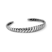 Carolyn Pollack Sterling Silver Ribbed Cuff Bracelet