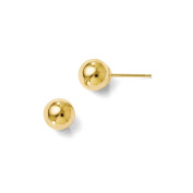 Leslie's 10K Yellow Gold Polished 6mm Ball Post Earrings