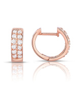 Noray Designs 14K Gold Diamond (0.24 Ct, G-H Colour, SI2-I1 Clarity) Huggie Earrings
