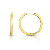 MCS Jewellery 14 Karat Yellow Gold Endless Hoop Earrings (Diameter