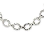 Sterling Silver Polished Fancy Link Necklace