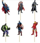 Avengers Cupcake Picks - Assorted Set of 12