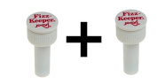 Jokari Fizz Keeper Pump Cap 2 Litre/Lt Soda Pop Bottles Saves Carbonation 2-Pack