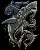 Royal and Langnickel Holographic Engraving Art, Sharks