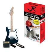J Reynolds JRPKSTBK Mini Electric Guitar Pack