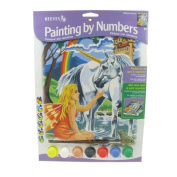 Reeves Unicorn Acrylic Painting Set by Numbers, Medium