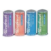 Dental Disposable Micro-Applicators Microbrush Regular Size 100 Blue,Green, Peach, Purple=400