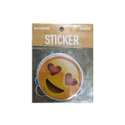 Ankit 3 PCs Holographic Stickers Combo# 2, Heart Eyes, Laughing Crying, Poop, Emoji Stickers